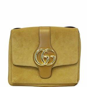 GUCCI Arli Medium Suede Leather Crossbody Bag